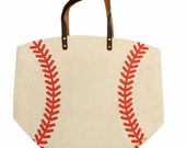 Baseball tote 21x17, lined and a magnetic closure