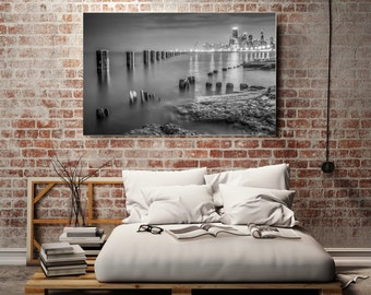 Chicago Skyline Photography, Chicago on Canvas, Chicago Canvas Art Print, Canvas Gallery Wrap -Ready to Hang, Canvas Wall Art, Black & White