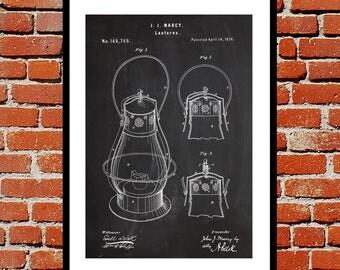 Lantern Patent, Lantern Poster, Lantern Blueprint,  Lantern Print, Lantern Art, Lantern Decor