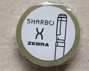 Japanese cute washi masking tape - stationery themed - SHARBO x ZEBRA  - 15mm x 10m