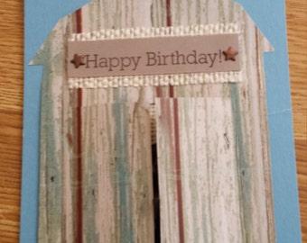 Horse and Barn Birthday Card