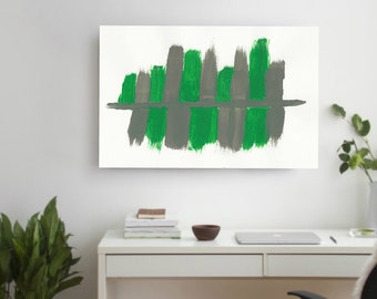 Large ORIGINAL Green gray Abstract Painting on Canvas Contemporary Abstract Modern Art wall decor Unstretched Giant Big Large Painting Decor