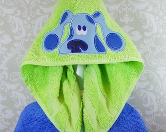 Blues Clues Inspired, Puppy, Dog, Hooded Towel on High Quality Belk Department Store Towels