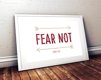 Fear Not Arrows Print