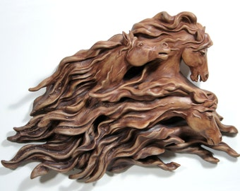 Spirits in the Wind - Wall hanging horse sculpture 1 of 7