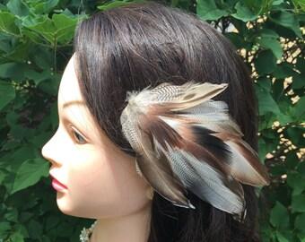 Goose feather fascinator