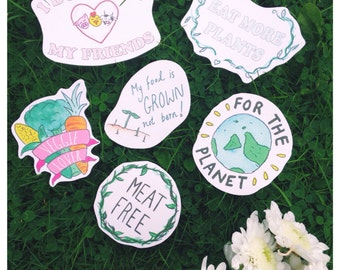Meat Free Sticker Pack X6