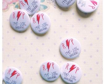 David Bowie Commemorative 25mm Badge Button