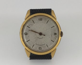 "Gold-plated Russian watch ""Peace"". Manual movement 18 jewels. Limited edition."