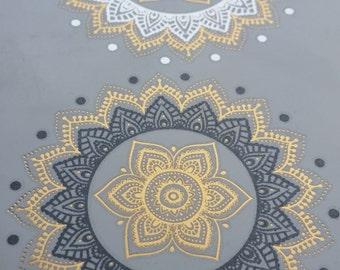 Mandala Temporary Tattoo Metallic  Gold Silver and Black Bling Henna tattoos Amazing flash body Jewelry for Women