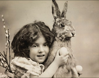24x36 Poster . Easter Rabbit 1907