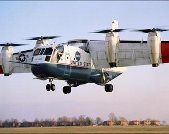 24x36 Poster . Ling Temco Vought Xc-142A Tilt Wing Nasa Langley 1969