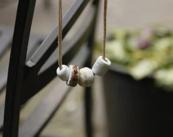Porcelain Four Bead Necklace