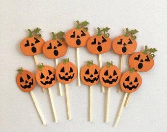 Halloween Cupcake Toppers!!- Pumpkins!