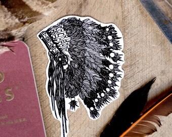 Vinyl Sticker - Headdress