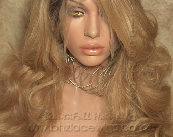 Dark Root Body curl lace front wig golden blonde CHARM Lace wig lace front wig Nicki Minaj wig Kim Kardashian lace wig drag queen