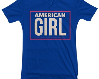 American Girl Tee, Novelty Tee, Graphic Tee, Women's Clothing, Gift for Her, Independence Day, 4th of July, Fourth of July Tee