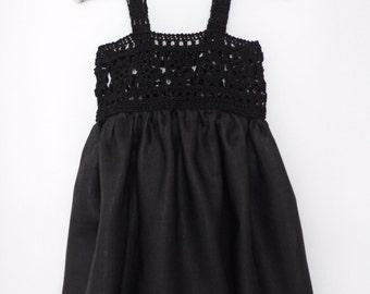 Little black dress for baby girl