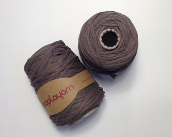 Hoopla jersey recycled Dark Mink sparkley t-shirt yarn