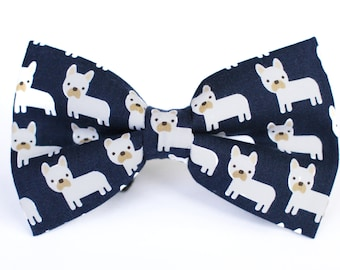 Frenchie Bow Tie | Dog Bow Tie | French Bulldog | Boys Bow Tie | Kids Bow Tie | Mens Bow Tie | Gift for Dog Lover | Pet Bow Tie