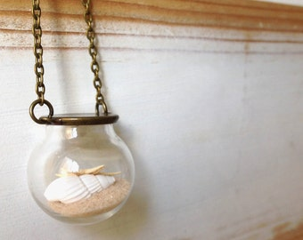 Necklace of the sea with shell and starfish