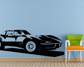 Old School Hot Rod Racing Car Ride Vehicle Antique Window Wall Decal Vinyl Sticker Mural Room Decor L1722