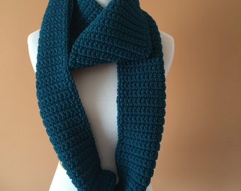 Teal Infinity Scarf, Cozy Infinty Scarf