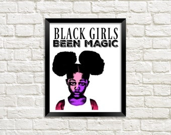 Black Girl Magic Art, Ethnic Art, African American Art, African Art, Natural Hair Art, Afro Art, Printable Wall Art, Black Art