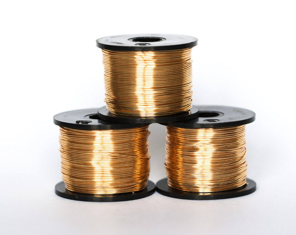 21811 gilt wire 22 gauge gold jewelry wire copper for 22 gauge craft wire