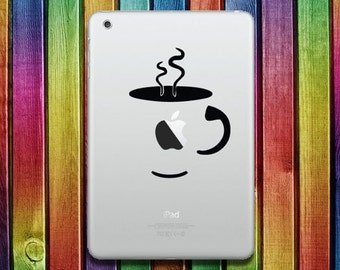 Coffee iPad Sticker Decal - decal stickers, ipad stickers, sticker apple, ipad decals,  ipad sticker,  sticker ipad, ipad decal
