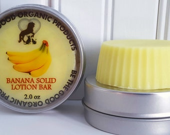 All Natural Solid Lotion Bar  -- Banana Solid Lotion Bar