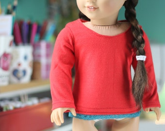 "Top For 18"" American Girl Dolls."