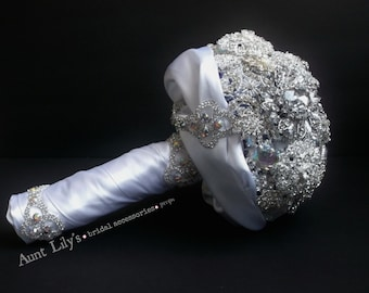 BRIDAL BOUQUET, hand crafted brooch bouquet ....