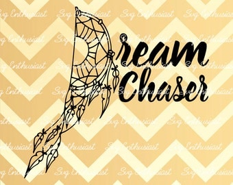 Dreamcatcher SVG, Dream Chaser SVG, Feather Svg, Cricut, Dxf, PNG, Vinyl, Eps, Cut Files, Clip Art, Vector, Quote, Sayings, Crown