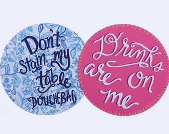 REVERSIBLE COASTERS | Pack of 8