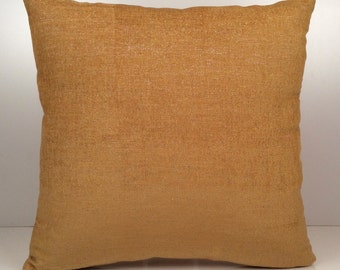 Gold Ochre Pillow, Throw Pillow Cover, Decorative Pillow Cover, Cushion Cover, Accent Pillow, Velour Blend, Home Decor, Silver Sparkles