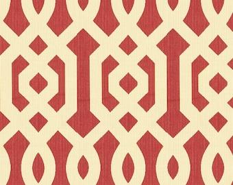 KRAVET LEE JOFA Chinoiserie Scrollworks Jacquard Upholstery Fabric 10 Yards Poppy