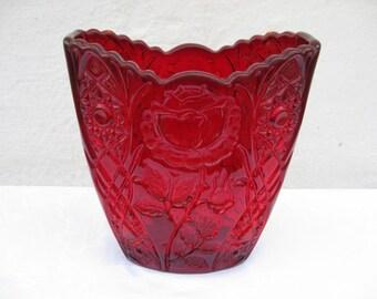 Brockwitz Germany Rose Garden - EDA Red Letter Vase