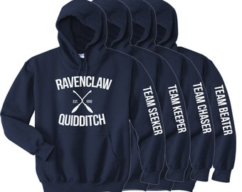 Ravenclaw Quidditch - Choose Your Team Position- Adult Unisex Hoodie