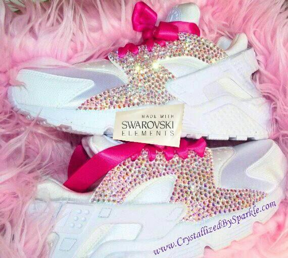 lovely Swarovski Crystal Bling Bling Nike Huarache by BehindDestinysDoor 7522fea2c