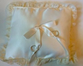 Ring Bearer Pillow Satin Ring Bearer Pillow Lace Trim