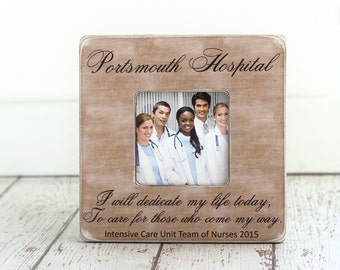 Christmas Gift for Nurse Nursing Team Co Worker Hospital Personalized Picture Frame for Staff Employees Doctor Nurses