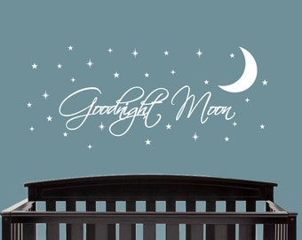 Goodnight Moon Decal, Nursery Decor, Nursery Decal, Nursery Wall decor