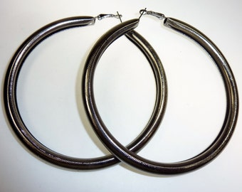 Huge Tribal Hoop Earrings, Tribal Fusion, Gothic cosplay LARP Metal Earrings, Vintage