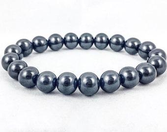 Men's Shungite Bracelet | Genuine Shungite | 10mm | Reiki Energy | Chakra Bracelet | Energy Bracelet | Unisex Bracelet | Direct from Russia