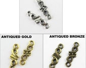 100Pcs Tibetan Silver Gold Bronze Tiny 1-1 Charms Pendants Connectors 5x16mm