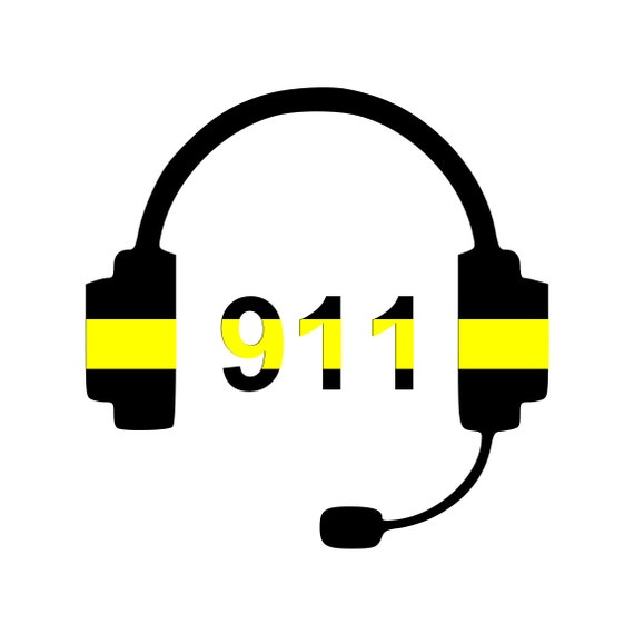 911 Dispatcher Decal Thin Gold Line Dispatcher Gift