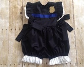 Family Police Academy Graduation - Police Officers Daughter -Police Officer Baby- Future Police Officer-Bubble Romper- Halloween Costume