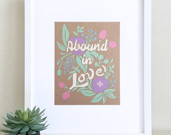 Abound In Love Papercut