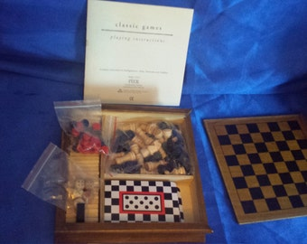 Wooden Compendium of games .